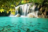 Erawan Waterfall, beautiful waterfall in spring forest in Kancha