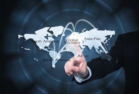 Photo for Global Partners Graphic use for import export background - Royalty Free Image