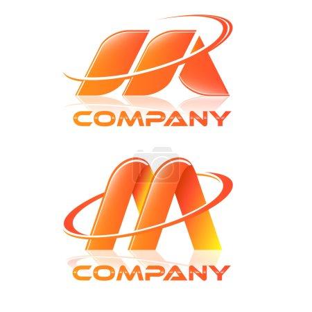 Illustration pour Logotype M - image libre de droit
