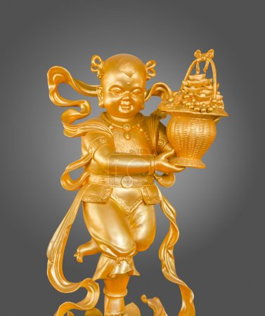 Gold God of Wealth or prosperity (Cai Shen) statue.