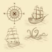 Elemente für Design antike Karten