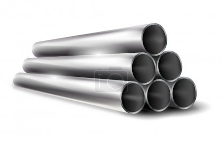 Pile of metal pipes