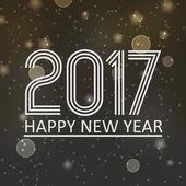 šťastný nový rok 2017 na bokeh temné noci s hvězdami na pozadí a sněhové eps10