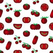 red color tomatoes simple icons seamles pattern eps10