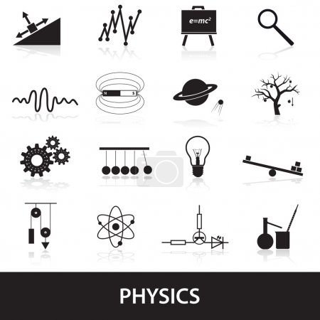 physics icons set eps10