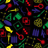 computer graphics symbols dark color seamless pattern eps10