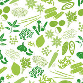 spices and seasonings icons color seamless pattern eps10
