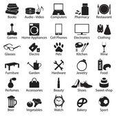 shop department simple vectors symbols set eps10