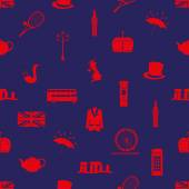 United Kingdom country theme symbols seamless pattern eps10