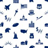 united states of america country theme icons seamless pattern eps10