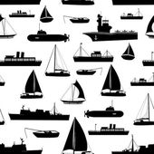 various transportation navy ships icons seamless pattern eps10