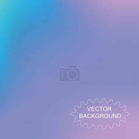 Illustration for Abstract mesh blurred vector background blue color - Royalty Free Image