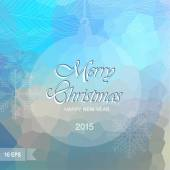 Happy New Year and Merry Christmas lettering Greeting  Card Vector illustration Blurred background with lights