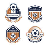 Vector set sport emblems Logo badges and labels  Football icon