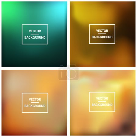 Illustration for Abstract colorful blurred vector backgrounds. Set timeline template. - Royalty Free Image