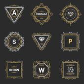Monogram  luxury logo template with flourishes calligraphic elegant ornament elements Luxury elegant design for cafe restaurant boutique hotel shop store heraldic jewelry fashion
