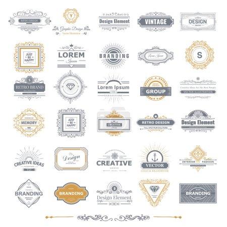 Photo pour Etiquettes vintage rétro Insignes ou Logo ensemble - image libre de droit