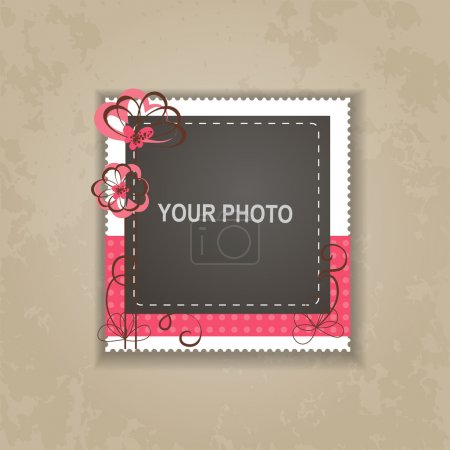 Vector vintage photo frame