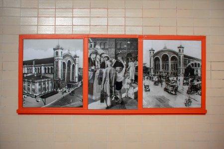 PIctura del viejo Nordbahnhof en el Museo en la estación de tren en Mitte Berlín