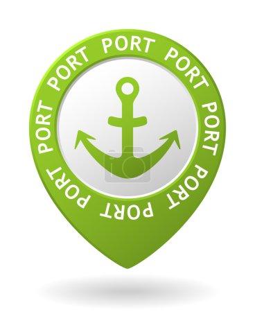 vector green map pointer