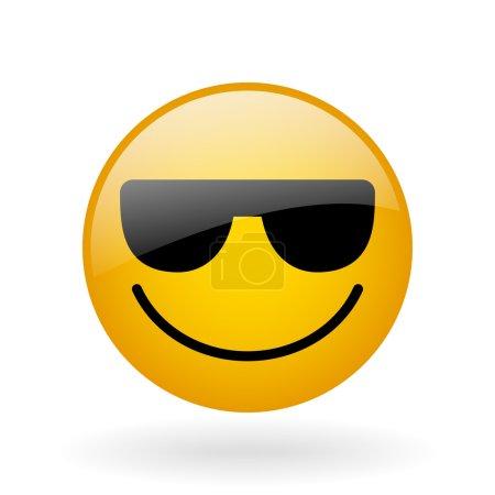 vector glass smile