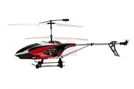 Helicopter on a white background.