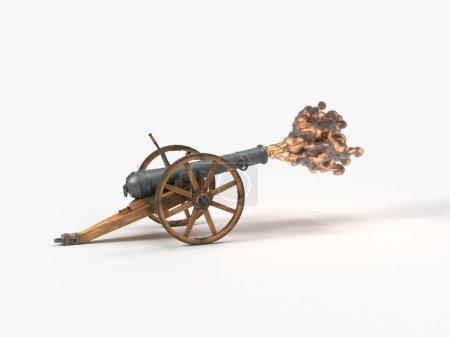 Ramadan cannon on shot moment, 3d illustration, is...