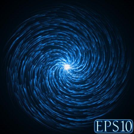 Illustration pour Âmes essaim dans l'obscurité (couleur bleue, version vortex dur .) - image libre de droit