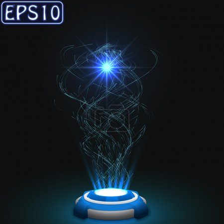 released energy particles swarm