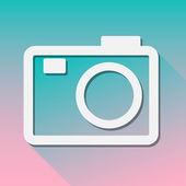 Ikona kamery pro jakékoliv použití. Vektorové Eps10