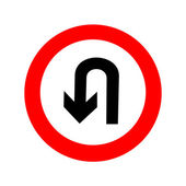 U-Turn road sign icon great for any use Vector EPS10