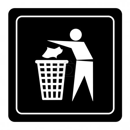 Illustration for Trash bin icon great for any use. Vector EPS10. - Royalty Free Image