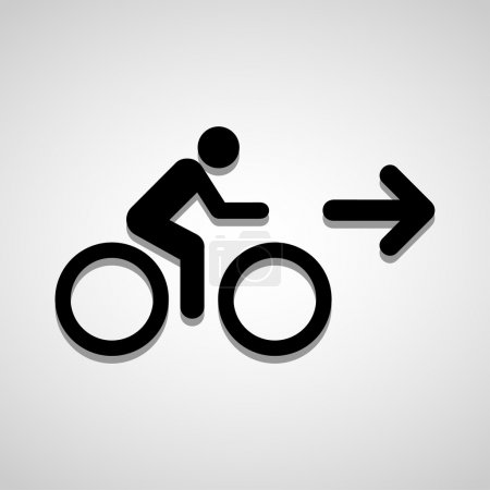 Bicycle sign icon great for any use. Vector EPS10.