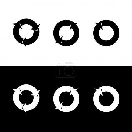 Refresh icon great for any use. Vector EPS10.