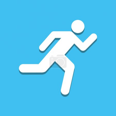 Run icon great for any use. Vector EPS10.