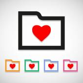 Heart folder icon great for any use Vector EPS10