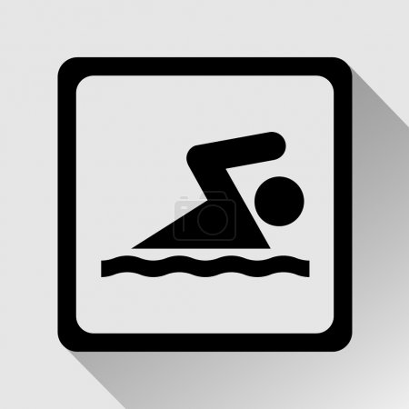 Swimming icon great for any use. Vector EPS10.