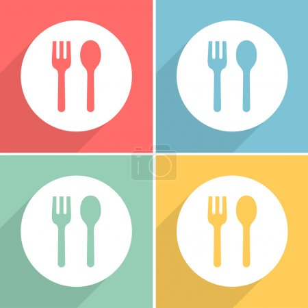 fork spoon icons set great for any use. Vector EPS10.