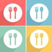 fork spoon icons set great for any use Vector EPS10