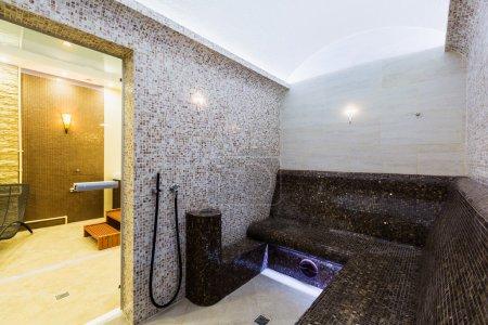 Interior of Turkish sauna, classic Turkish hammam