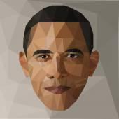 portrait Barack Obama US president low poly USA