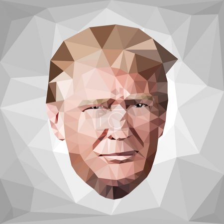 portrait Donald John Trump candidate low poly U.S.