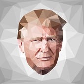 portrait Donald John Trump candidate low poly US