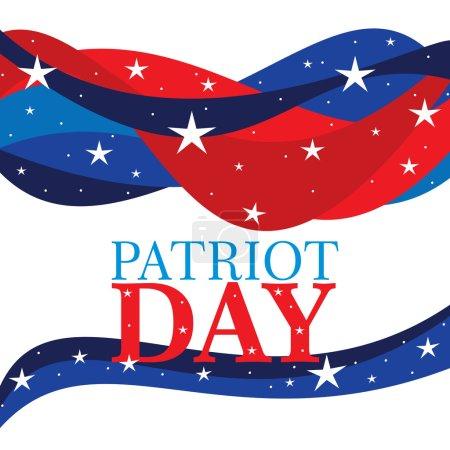 Photo pour Une illustration du jour patriot sur fond blanc - image libre de droit