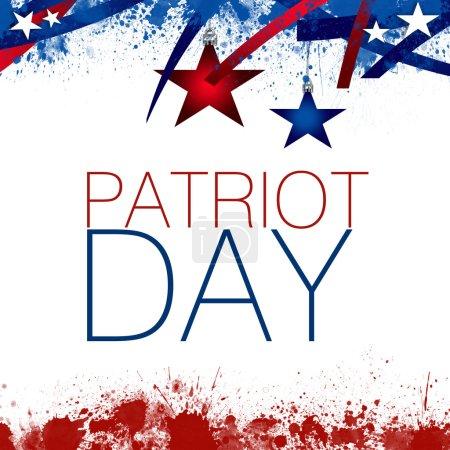 Photo pour Une illustration abstraite de journée patriot sur fond blanc - image libre de droit