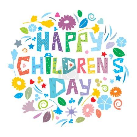 Photo pour Une illustration abstraite childrens heureux jour - image libre de droit