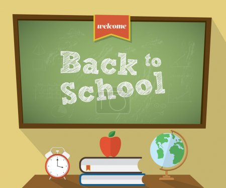 Back to school background. Vector illustration...
