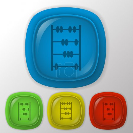 Illustration for Old retro abacus icon. math sign. vector illustration - Royalty Free Image