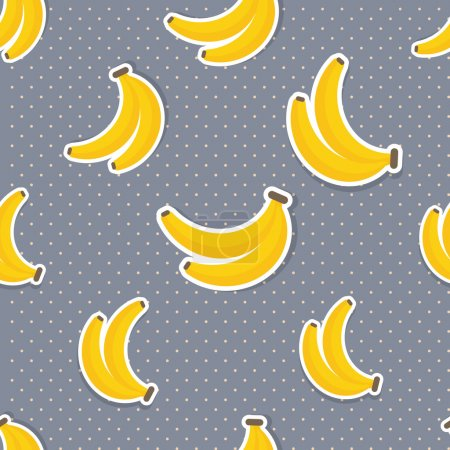Illustration for Banana pattern. Seamless texture with ripe bananas. Use as a pattern fill - Royalty Free Image