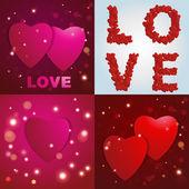Valentines den. Abstraktní papírové srdce. Láska. Valentine pozadí se srdíčky